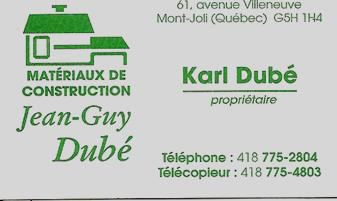 Matériaux De Construction Jean-Guy Dubé Inc